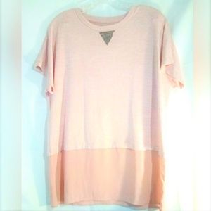 Juicy Couture Pullover Top Sz L Pink Short Sleeves